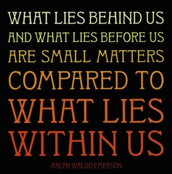 WHHT LIES BEHIND US 