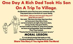 One Day A Rich Dad Took His Son 
