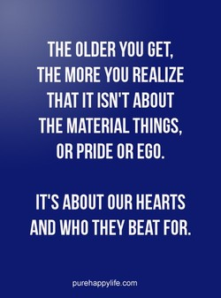 THE OLDER YOU GET, 