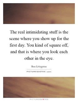 The real intimidating stuff is the 