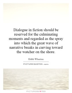 Dialogue in fiction should be 
