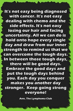 It's not easy being diagnosed 