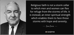 Religious faith is not a storm cellar 