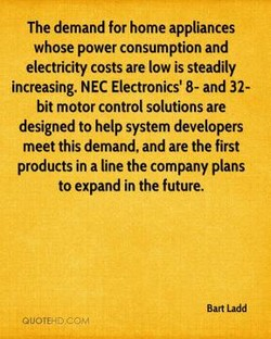 The demand for home appliances 
