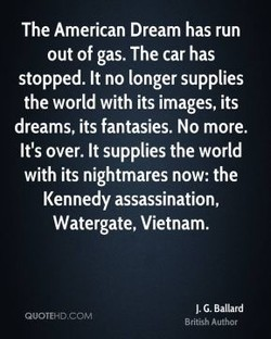 The American Dream has run 