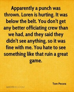 Apparently a punch was 