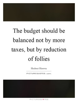 The budget should be 