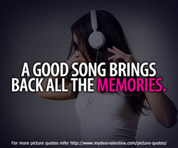 A GOOD SONG BRINGS 