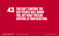YOU CAN'T CONTROL THE 