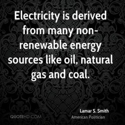 Electricity is derived 