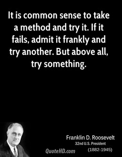 It is common sense to take 
