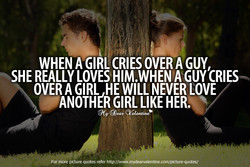 WHEN A GIRL CRIES OVER A GUY, 