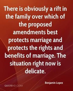 There is obviously a rift in 