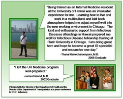 •Being trained as an Internal Medicine resident 