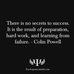 There is no secrets to success. 