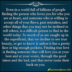 Even in a world full of billions of people 
