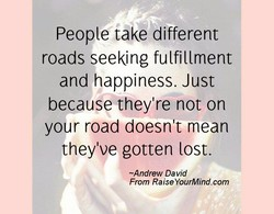 People take different 