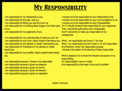 MY RESPONSIBILITY 