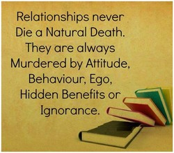 Relationships never 