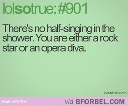 There's no half-singing in 