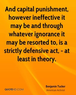 And capital punishment, 