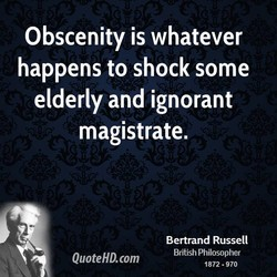 Obscenity is whatever 