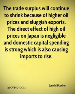 The trade surplus will continue 