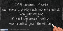 If 5 seconds of smile 