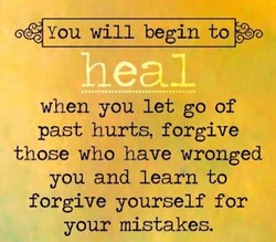 You will begin to 