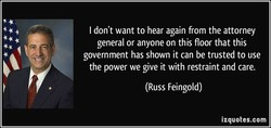 I don't want to hear again from the attorney 