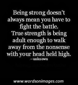 Being strong doesn't