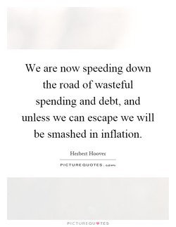 We are now speeding down 