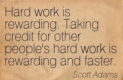 Hard work is 