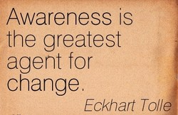Awareness is 