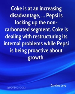 Coke is at an increasing 