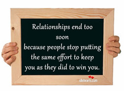 Relationships end too 
