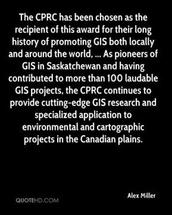 The CPRC has been chosen as the 