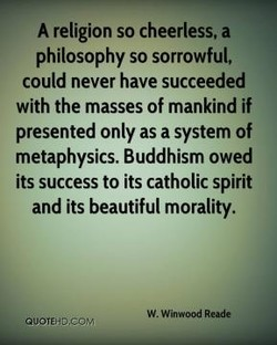 A religion so cheerless. a 