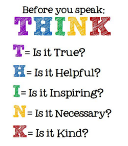Before you speak: 