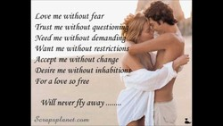 Love me without fear 