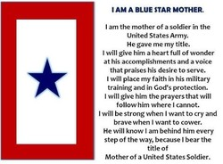 I AM A BLUE STAR MOTHER. 