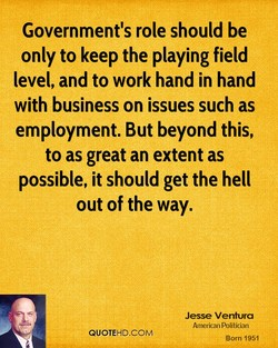 Government's role should be 