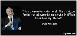 This is the sweetest victory of all. This is a victory 