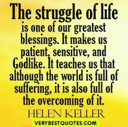 The struggle of life 