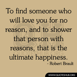 To find someone who 