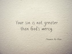 Your sin is not yredter 