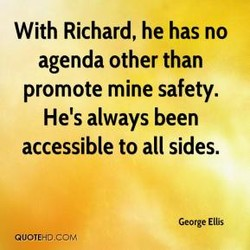 With Richard, he has no 