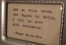 And so being young 