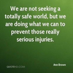 We are not seeking a 