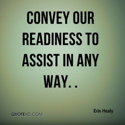 CONVEY OUR 